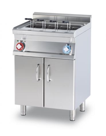 Cuocipasta elett. su mobile trifase, 1 vasca, inox AISI 304 da 40 litri di capacità, rubinetto carico acqua - cm 60x60x90h