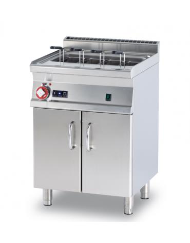 Cuocipasta a gas su mobile, 1 vasca, inox AISI 304 da 40 litri di capacità, carico acqua automatico - cm 60x60x90h