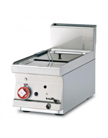 Friggitrice a gas da banco - 1 vasca cm 22x27,5x22h con filtro e coperchio - 8Lt. - cm 30x60x28h