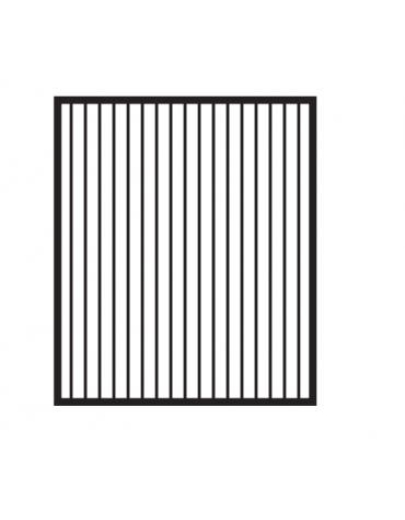 Fry top elettrico trifase-4,5kw da banco, piastra rigata cromata, r. temp. 50 a 300 °C - dim. 40x60x28h