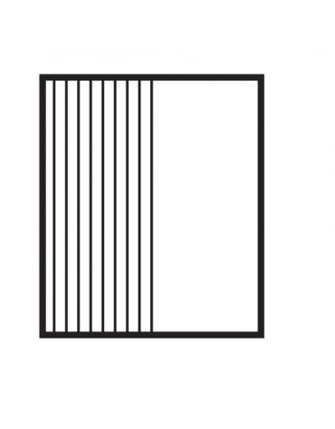 Fry top elettrico trifase-6,75kw da banco, piastra doppia, 1/2 liscia - 1/2 rigata, r. temp. 50 a 300 °C - dim. 60x60x28h