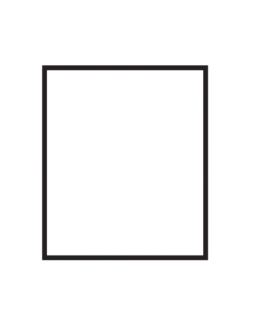 Fry top elettrico trifase-6,75kw da banco, piastra liscia cromata doppia, r. temp. 50 a 300 °C - dim. 60x60x28h