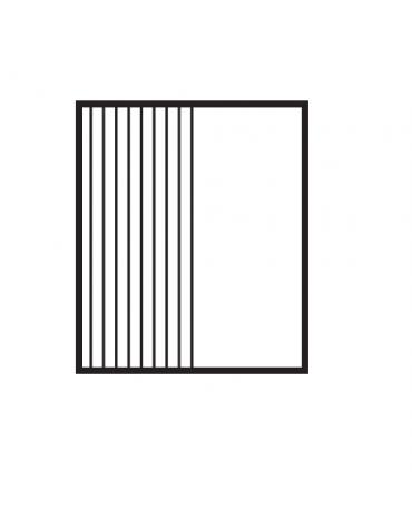 Fry top elett. trifase-6,75kw da banco, piastra 1/2 liscia cromata - 1/2 rigata  cm 59,5x45, r. temp. 50 a 300 °C - cm 60x60x28h