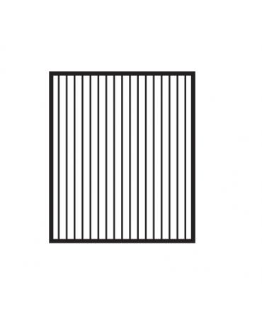 Fry top elettrico trifase-6,75kw da banco, piastra rigata cromata doppia  cm 59,5x45, r. temp. 50 a 300 °C - dim. 60x60x28h