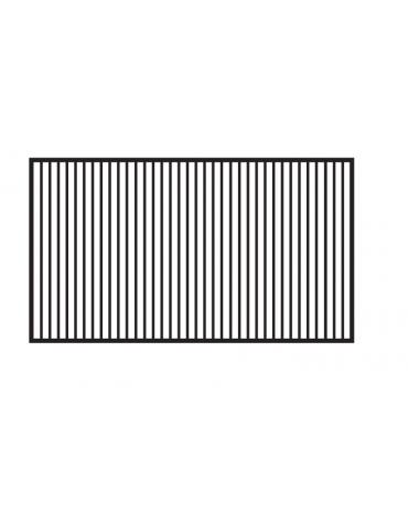 Fry top elettrico trifase-9kw da banco, piastra rigata cromata doppia cm 79,5x45, r. temp. 50 a 300 °C - dim. 80x60x28h