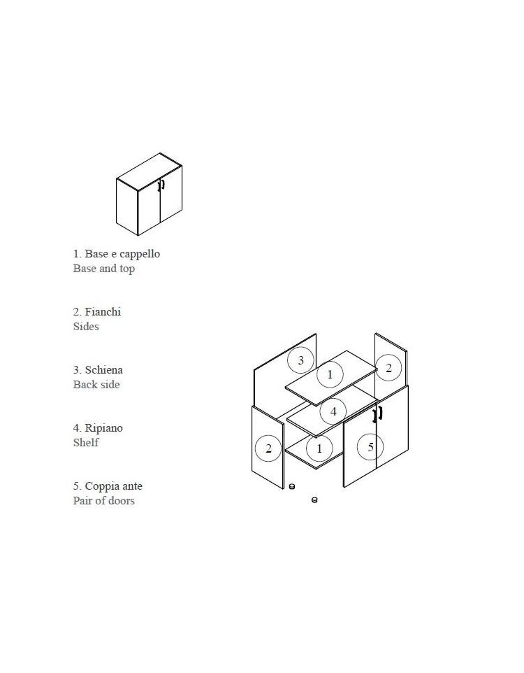 Mobile armadio basso per ufficio da cm 90x45x79 5h con for Mobile per ufficio