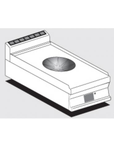 Piano di cottura elettrico trifase-5kw, con 2 piani di cottura Ø cm 30 a induzone WOK con comandi digitali - cm 40x60x28h
