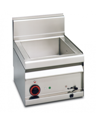 Bagnomaria elettrico da banco monofase-2,1kw in acciaio inox CrNi 18/10 AISI 304, 1 vasca GN1/1 h.15  cm 40x65x29h