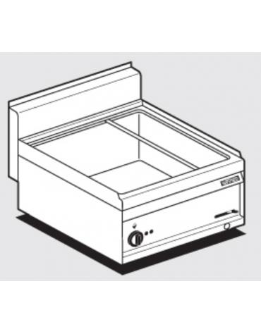Bagnomaria elett. da banco monofase-3,15kw, inox CrNi 18/10 AISI 304, 1 vasca per GN1/1+ 2 GN1/4 h. 15  cm 60x65x29h