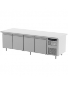 Tavolo refrigerato 4 Porte Dimensioni Cm.283x80x85h