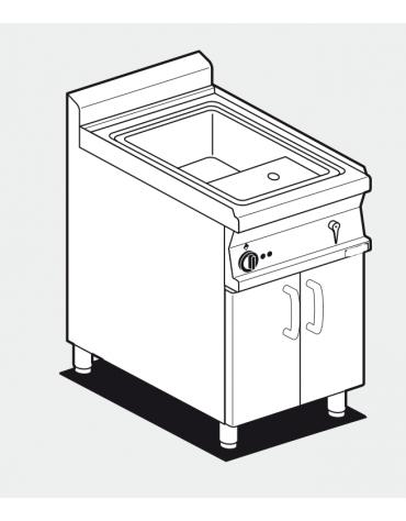 Cuocipasta elett. su mobile trifase, 1 vasca cm 51x30,7x32,7h, 40 lt. carico acqua automatico - cm 60x70,5x90h