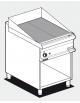 Fry top elettrico trifase-7,4kw su mobile a giorno piastra rigata - dim. 60x70,5x90h