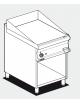 Fry top elettrico trifase-7,4kw su mobile a giorno piastra liscia cromata - dim. 60x70,5x90h