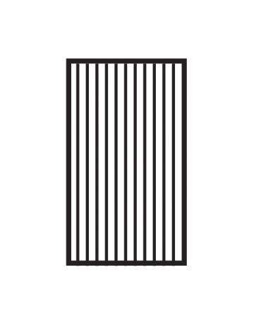 Fry top a gas su mobile a giorno7 kw, piastra singola rigata cromata - piastra cm 36x51  - dim. 40x70,5x90h