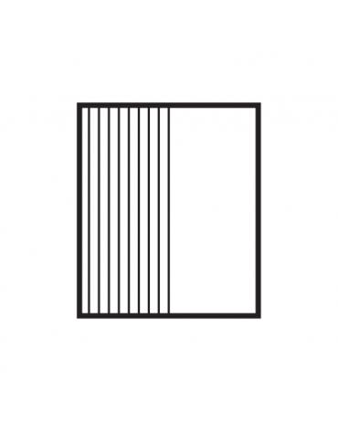 Fry top elettrico trifase-7,4kw su mobile a giorno, piastra 1/2 liscia - 1/2 rigata cromata cm 56x51 - dim. 60x70,5x90h