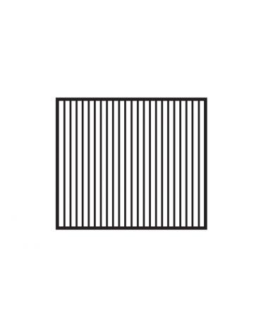 Fry top elettrico trifase-11,1kw su mobile a giorno piastra doppia rigata cromata cm 76x51 - dim. 80x70,5x90h