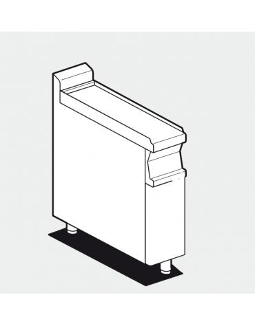 Piano di lavoro inox CrNi 18/10 AISI 304, su mobile con bacinelle inox o in plastica - cm 20x70,5x90h
