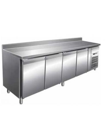 Tavolo refrigerato con alzatina 4 Porte cm. 223x60x85h