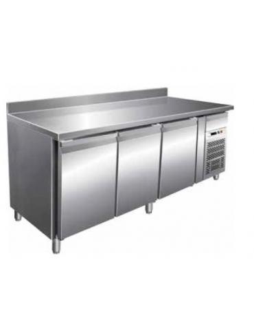 Tavolo refrigerato con alzatina 3 Porte cm. 179,5x60x85h