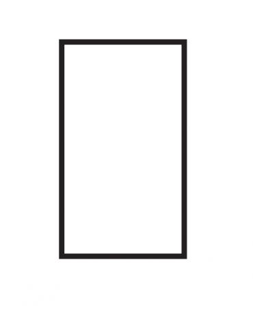 Fry top elettrico trifase-5,55kw da banco, piastra liscia cromata cm 36x51, r. temp. 50 a 300 °C - dim. 40x70,5x28h