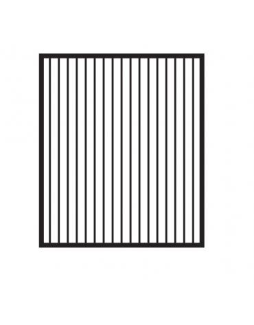 Fry top elettrico trifase-7,4kw da banco, piastra rigata cm 56x51, r. temp. 50 a 300 °C - dim. 60x70,5x28h