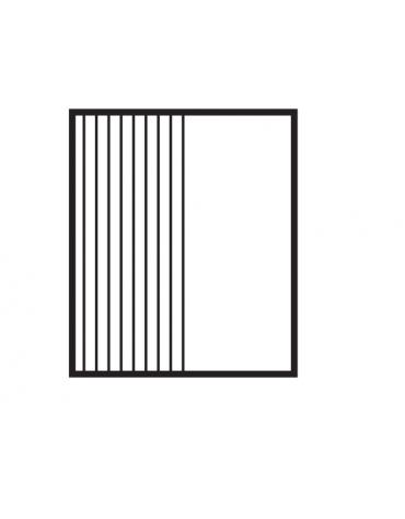 Fry top a gas da banco, 10,5kw, piastra cromata 1/2 liscia, 1/2 rigata,  superficie di cottura cm 56x51 - cm 60x70,5x28h