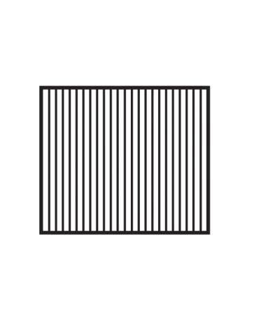 Fry top elettrico trifase-11,1kw da banco, piastra doppia rigata cm 76x51, r. temp. 50 a 300 °C - dim. 80x70,5x28h