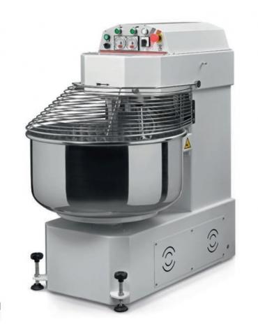 Impastatrice per pizzeria professionale a spirale - Capacità vasca Kg 6 / Lt 7 - MONOFASE