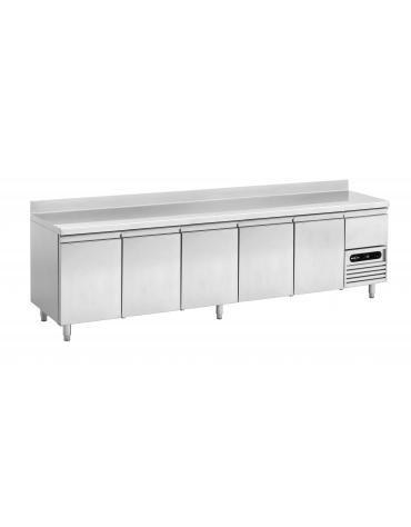 Tavolo refrigerato pasticceria ventilato con alzatina 3 porte - cm 202x80x85h