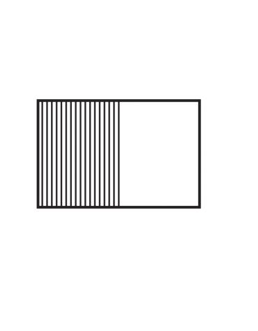 Fry top elettrico trifase-14,8kw da banco, piastra 1/2 liscia, 1/2 rigata cm 116x51, r. temp. 50 a 300 °C - dim. 120x70,5x28h