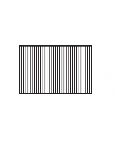 Fry top elettrico trifase-14,8kw da banco, piastra doppia rigata cm 116x51, r. temp. 50 a 300 °C - dim. 120x70,5x28h