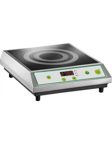 Piastra ad induzione in vetroceramica da 2,7 Kw -Superficie utile di cottura diametro cm 22
