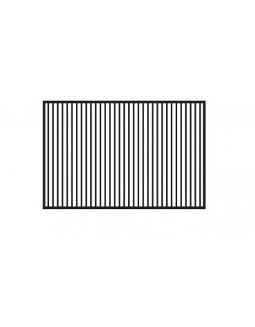 Fry top a gas da banco, 21kw, piastra doppia rigata cromata, superficie di cottura cm 116x51 - cm 120x70,5x28h