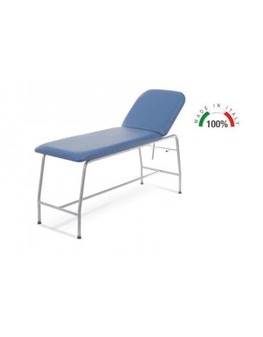 LETTINO PROFESSIONALE PER VISITA MEDICA - Struttura in tubolare di acciaio verniciato- PORTATA 180 KG