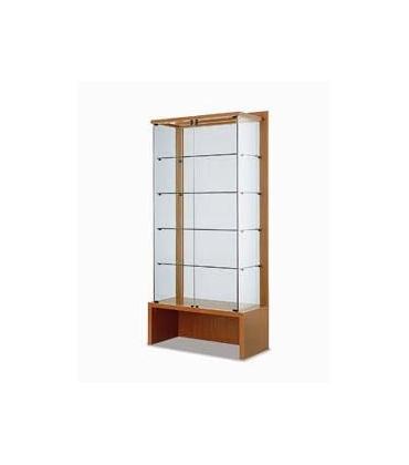 Con vetrina e schienale in cristallo trasparente