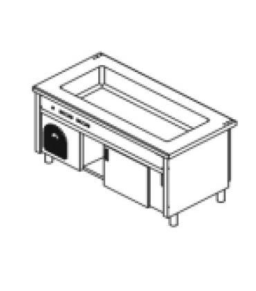Elementi freddi con vasca-Vano inferiore chiuso