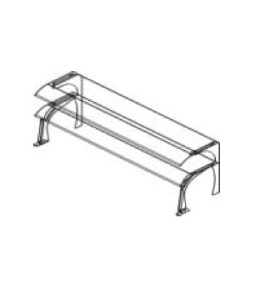 Mensole con supporti linea self service dina forniture for Supporti per mensole