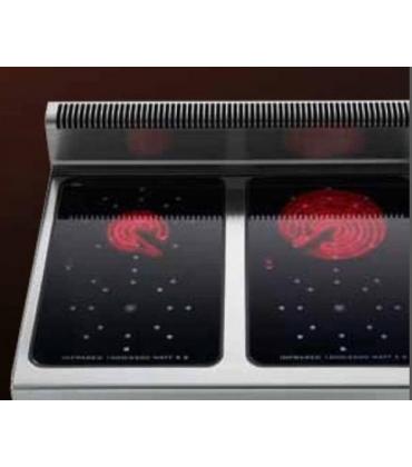 Cucine elettiche professionali con piano in vetroceramica ad infrarosso