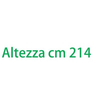 Altezza esterna cm 214