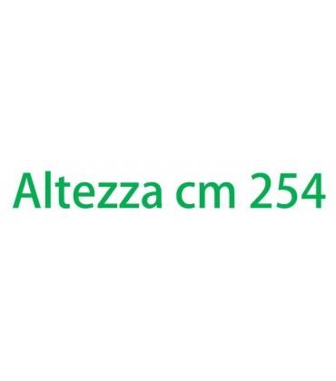 Altezza esterna cm 254
