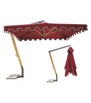 Con palo laterale legno e palo superiore acciaio