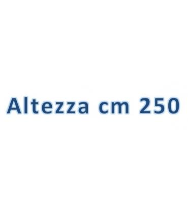Altezza totale cm 250