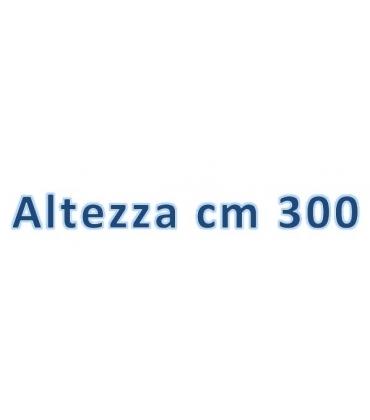Altezza totale cm 300