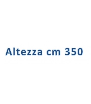 Altezza totale cm 350
