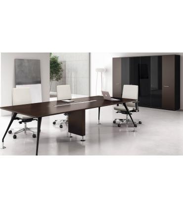 Tavoli riunione con piano in legno