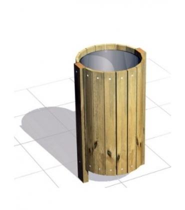 Cestini portarifiuti in legno per esterno