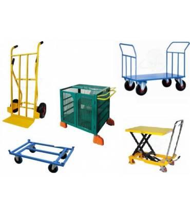 Carrelli trasporto merci manuali a due e a quattro ruote