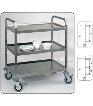 Carrelli inox per trasporto pesante