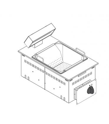 Scaldapatate elettrico da incasso drop-in