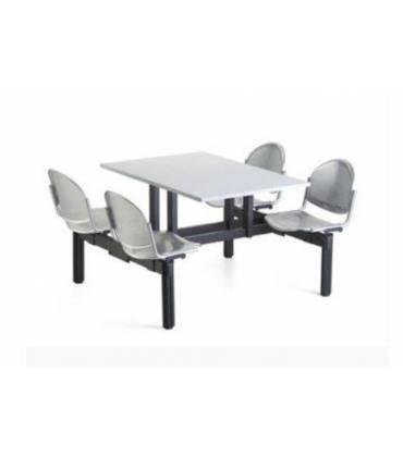 Tavoli con sedie incorporate